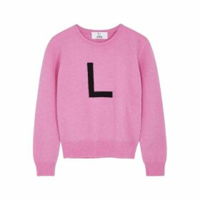 Hades Alphabet L Pink Wool Jumper