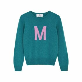 Hades Alphabet M Teal Wool Jumper