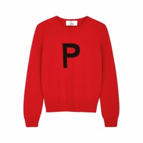 HADES Alphabet P Red Wool Jumper