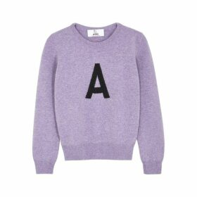 Hades Alphabet A Purple Wool Jumper