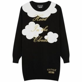 Boutique Moschino Head In The Clouds Intarsia Cotton Jumper