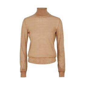 Jil Sander Camel Fine-knit Wool Jumper