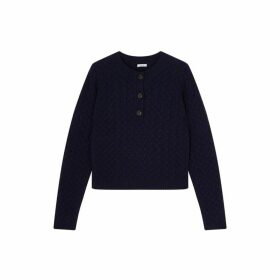 Jigsaw Cable Henley Jumper