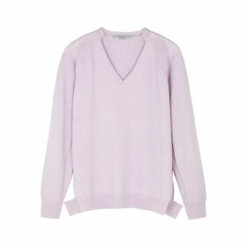 Stella McCartney Lilac Cashmere And Wool-blend Jumper