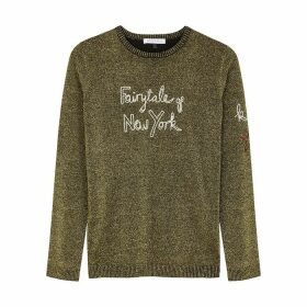 Bella Freud Fairytale Of New York Metallic-knit Jumper