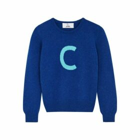 Hades Alphabet C Blue Wool Jumper