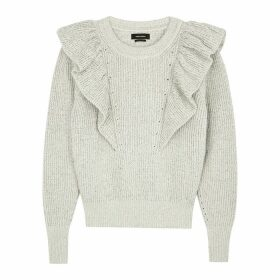 Isabel Marant Blakely Ivory Ruffle-trimmed Jumper
