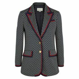 Gucci GG Monogrammed Cotton-jersey Blazer