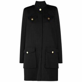 Alexander McQueen Black Wool And Silk-blend Coat