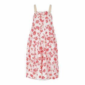 Lee Mathews Lulu Floral-print Poplin Midi Dress