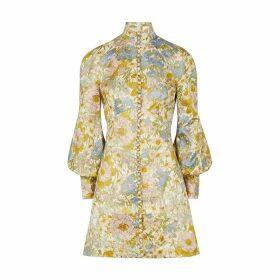 Zimmermann Super Eight Floral-jacquard Mini Dress