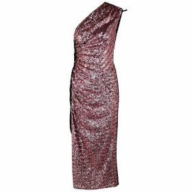 16 Arlington Rogers One-shoulder Sequin Midi Dress