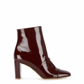Malone Souliers Dakota 70 Burgundy Patent Leather Ankle Boots