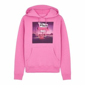 Paco Rabanne Pink Motel-print Hooded Cotton Sweatshirt