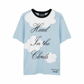 Boutique Moschino Head In The Clouds Printed Cotton T-shirt
