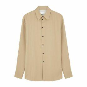 Jil Sander Camel Wool-twill Shirt