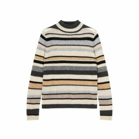 Jigsaw Cashmere Mixed Stripe Jumper