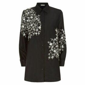 Varana Aari-embroidery-silk-taffeta-shirt