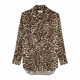 Equipment Rhaine Leopard-print Satin Shirt