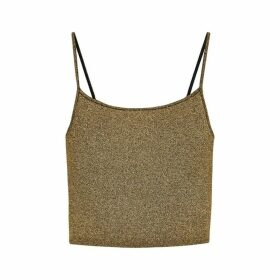 A.L.C. Rosie Gold Metallic-knit Top