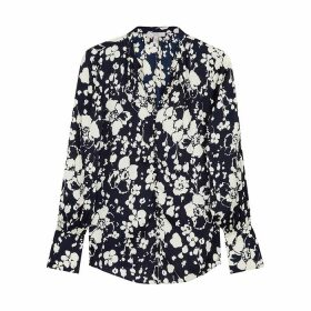 Joie Tariana Floral-print Satin Blouse