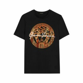 Versace Black Medusa Logo Cotton T-shirt