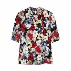 Erdem Kacey Floral-print Jersey Top