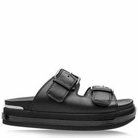 Alexander McQueen Leather Sliders