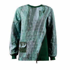 Boo Pala - Unisex Green & Grey Strata Sweatshirt