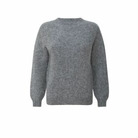 h.huna - Brushed Wool Crew Neck Sweater