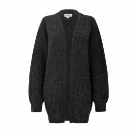 h.huna - Longline Grey Boyfriend Cardigan in a Chunky Knit