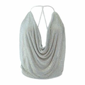 LAHIVE - Audrey Gold Painted Fitted Reptile Pant