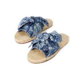 At Last. - Louise Silk Velvet Shirt- Navy