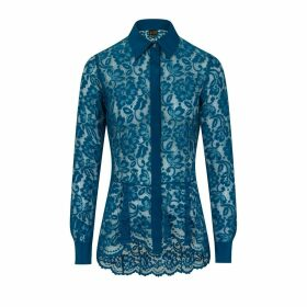 Sophie Cameron Davies - Teal Lace Shirt