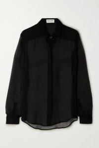 SAINT LAURENT - Silk-chiffon Shirt - Black