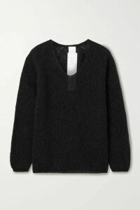 Max Mara - Leisure Posato Metallic Ribbed-knit Sweater - Black