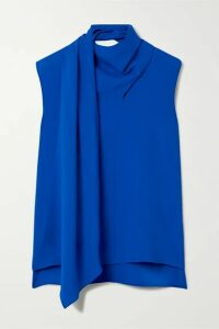 Adam Lippes - Draped Crepe Top - Royal blue