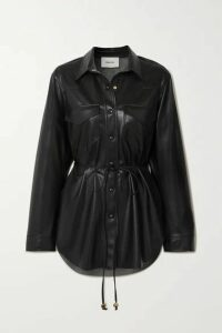 Nanushka - Eddy Belted Vegan Leather Shirt - Black