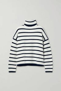 La Ligne - Striped Wool Turtleneck Sweater - Cream