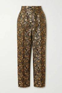 Dolce & Gabbana - Metallic Floral-jacquard Straight-leg Pants - Gold