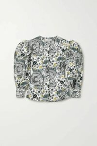 Isabel Marant Étoile - Unatil Floral-print Cotton-voile Blouse - White