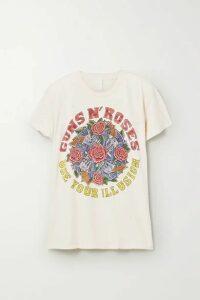 MadeWorn - Guns N' Roses Distressed Printed Cotton-jersey T-shirt - White