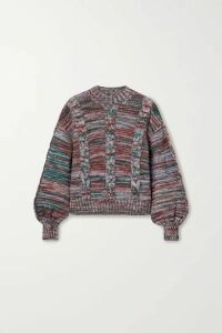 Stine Goya - Gio Mélange Cable-knit Sweater - Purple