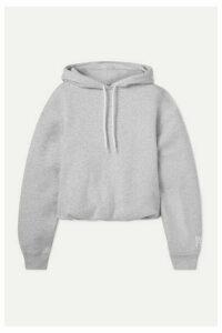 alexanderwang.t - Stretch-cotton Jersey Hoodie - Light gray