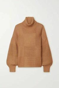STAUD - Benny Ribbed-knit Turtleneck Sweater - Camel