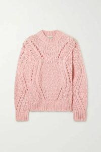 Stine Goya - Alex Cable-knit Sweater - Baby pink