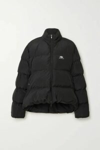 Balenciaga - C-shape Oversized Hooded Quilted Shell Jacket - Black