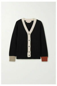 Marni - Color-block Cashmere Cardigan - Black
