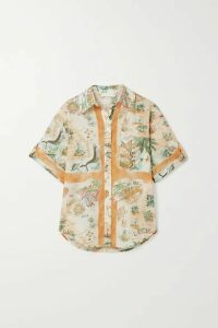 Zimmermann - Kirra Printed Cotton-voile Shirt - Neutral