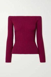 Altuzarra - Sweetwater Ribbed-knit Off-the-shoulder Top - Magenta